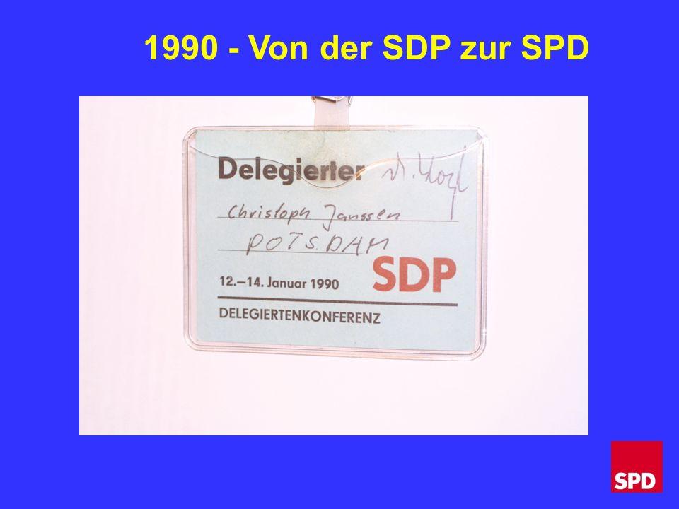 1990 - Von der SDP zur SPD