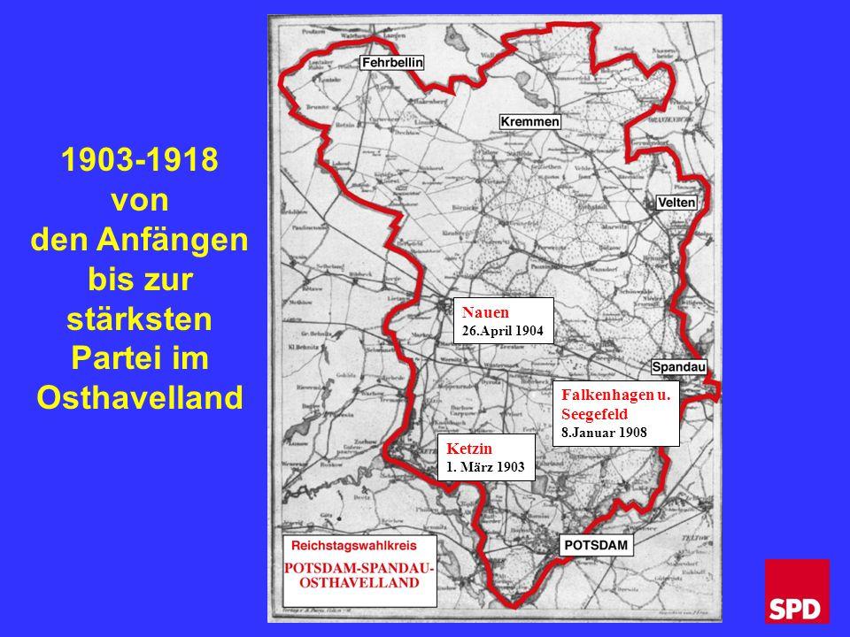 Nauen 26.April 1904 Falkenhagen u. Seegefeld 8.Januar 1908 Ketzin 1.