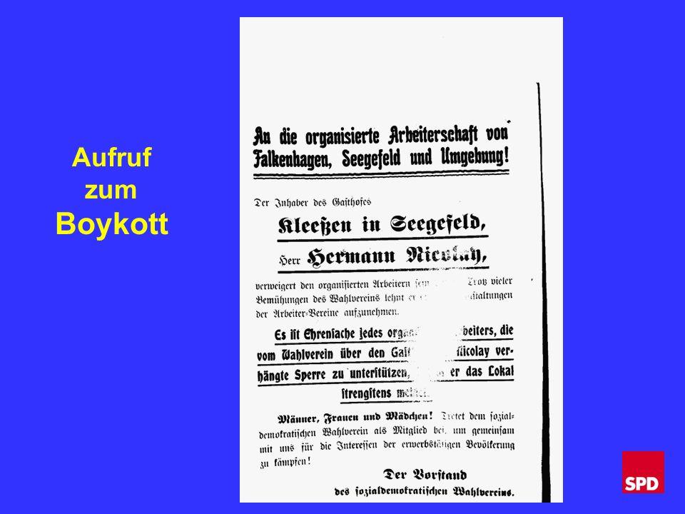 Aufruf zum Boykott