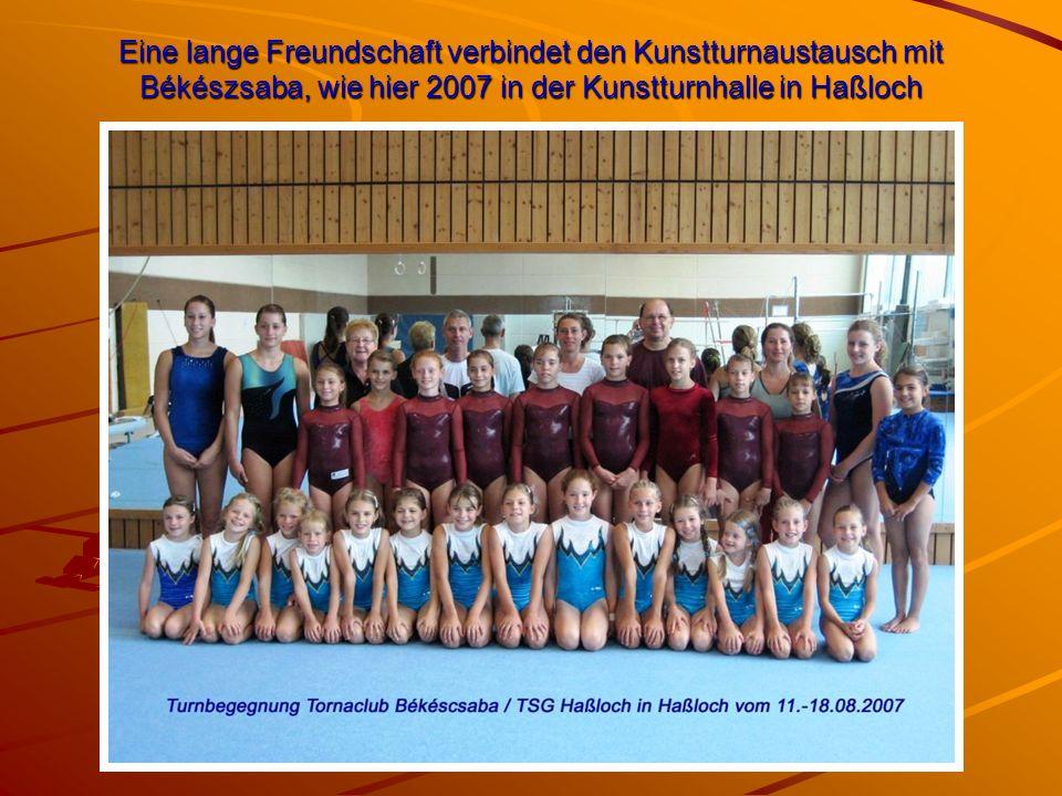 Eine lange Freundschaft verbindet den Kunstturnaustausch mit Békészsaba, wie hier 2007 in der Kunstturnhalle in Haßloch