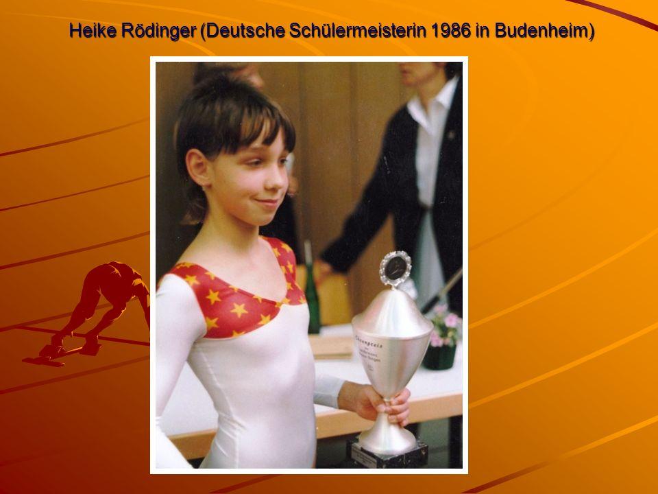 Heike Rödinger (Deutsche Schülermeisterin 1986 in Budenheim)