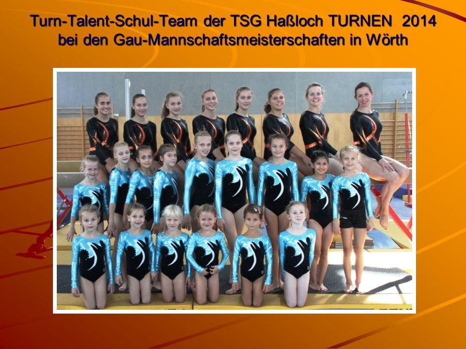 Turn-Talent-Schul-Team der TSG Haßloch TURNEN 2014 bei den Gau-Mannschaftsmeisterschaften in Wörth