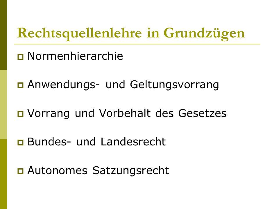 Normenhierarchie Verf.