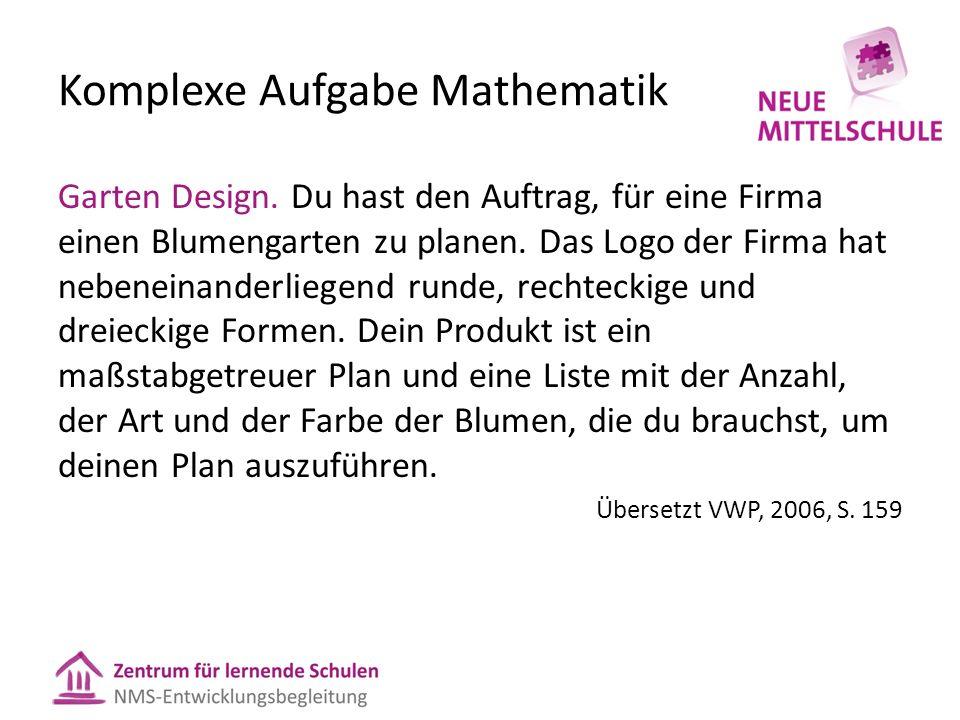 Komplexe Aufgabe Mathematik Garten Design.