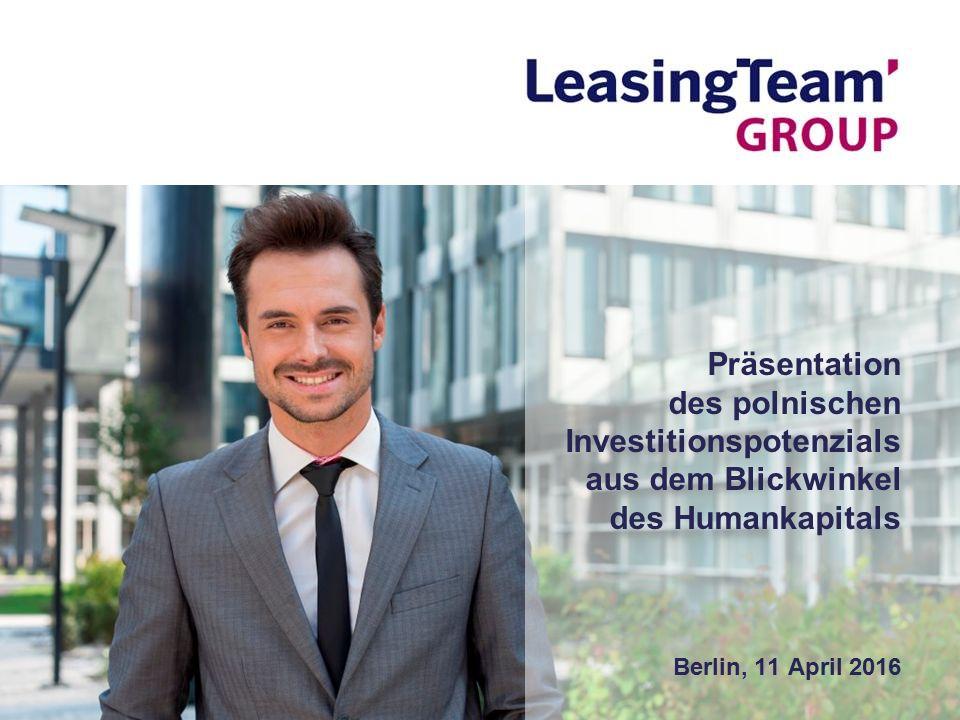 Präsentation des polnischen Investitionspotenzials aus dem Blickwinkel des Humankapitals Berlin, 11 April 2016