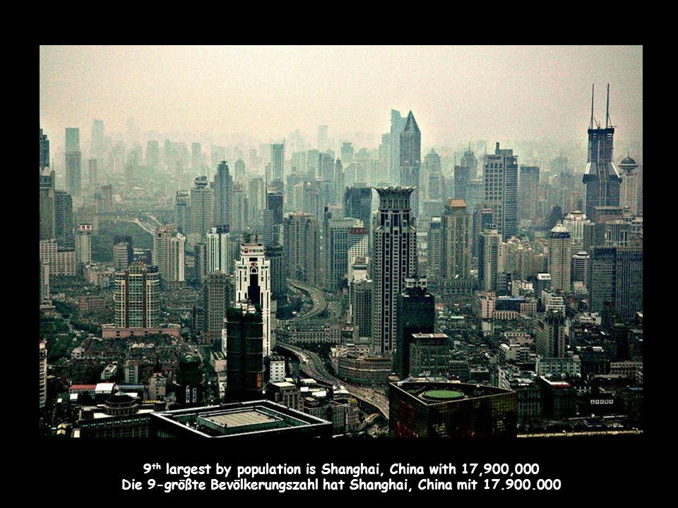 10 th is Jakarta, Indonesia with 17,150,000 people Platz 10 belegt Jakarta mit 17.150.000 Menschen.