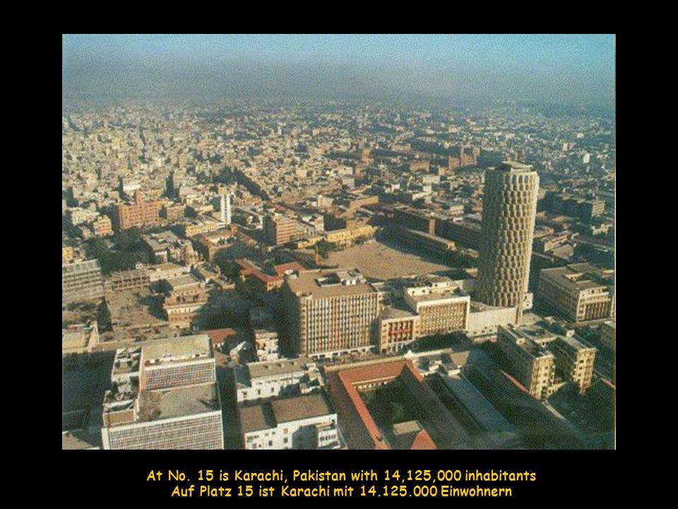 The 5 th largest is Sao Paulo, Brazil with 20,200,000 inhabitants Die fünftgrößte Stadt ist Sao Paulo, Brasilien mit 20.200.000 Einwohnern