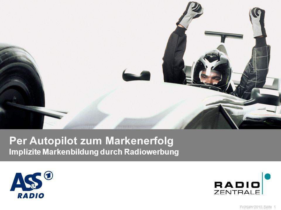 Name der Präsentation / Kapitel Frühjahr 2010, Seite 1 Per Autopilot zum Markenerfolg Per Autopilot zum Markenerfolg Implizite Markenbildung durch Radiowerbung