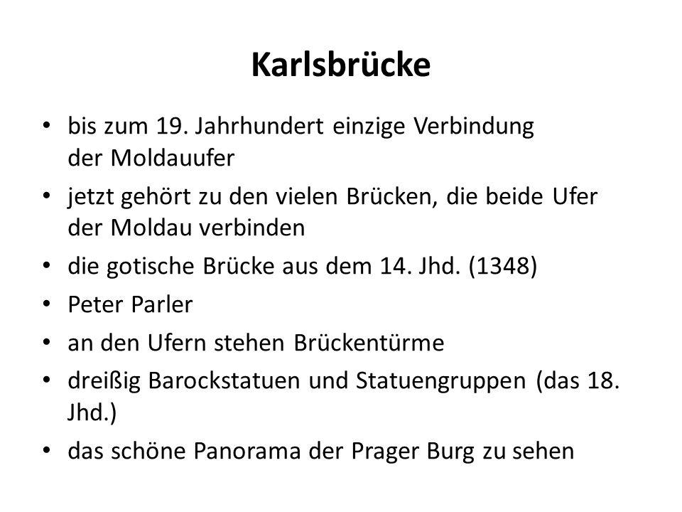 Karlsbrücke bis zum 19.