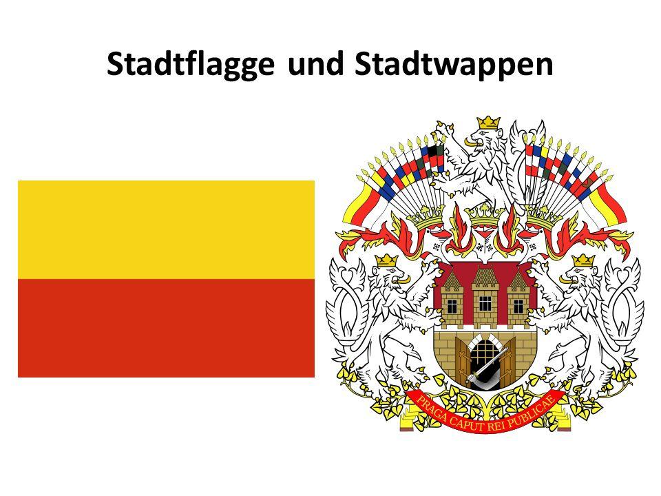 Stadtflagge und Stadtwappen