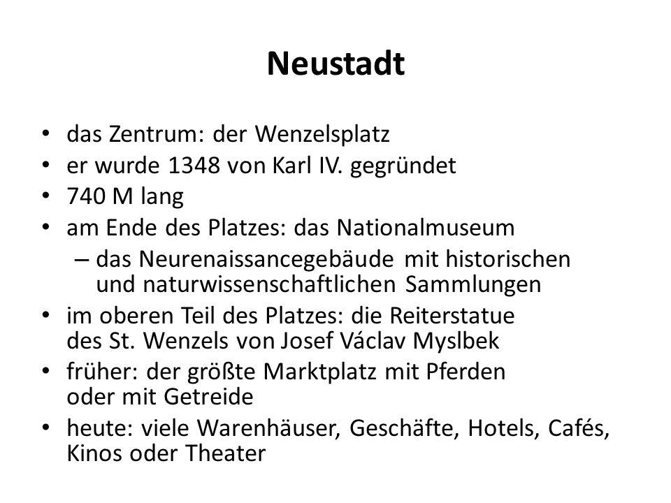 Neustadt das Zentrum: der Wenzelsplatz er wurde 1348 von Karl IV.