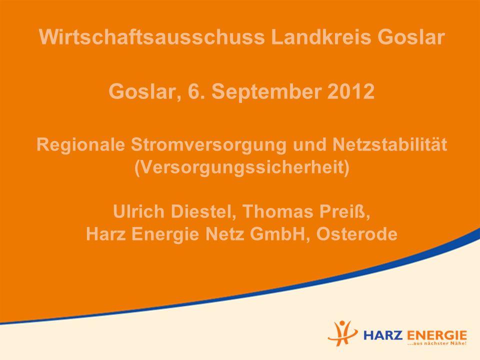 Wirtschaftsausschuss Landkreis Goslar Goslar, 6.