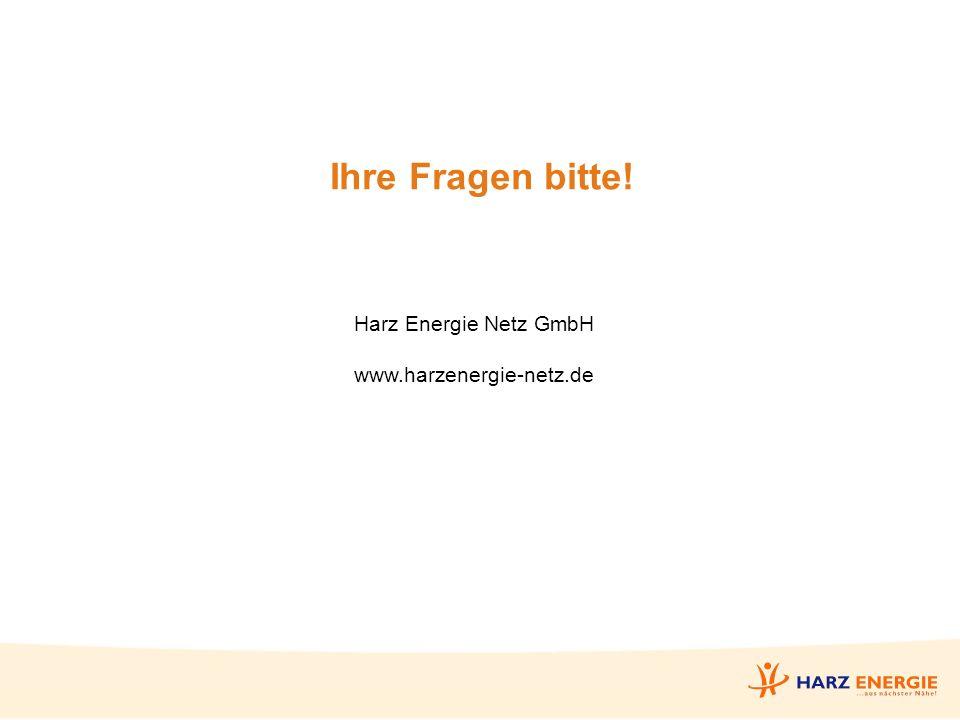 Ihre Fragen bitte! Harz Energie Netz GmbH www.harzenergie-netz.de