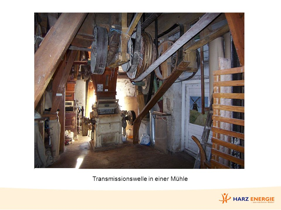Transmissionswelle in einer Mühle