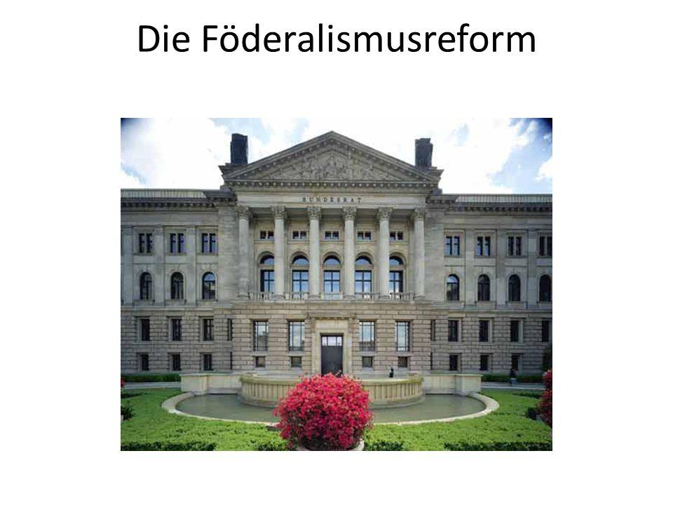 Föderalismusreform II Das Gesamtpaket beinhaltet:  Vorschläge zur Änderung des GG einfachgesetzliche Rechtsänderungsvorhaben und deren Begründungen sowie einen Vorschlag für eine Entschließung Gesetzgebungsverfahren begann Ende März 2009 mit der 1.