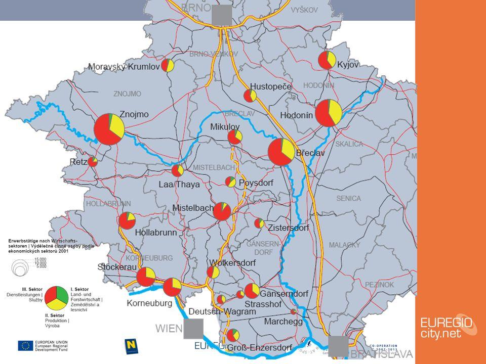 Städteprofile - Schwerpunktkarten mit Bewertung der regionalen Wirkung der Städte Generationen und Soziales, Zukunftstechnologien, Gesundheit, Natur und Landschaft, Tourismus/Wein/Kultur/historisches Erbe