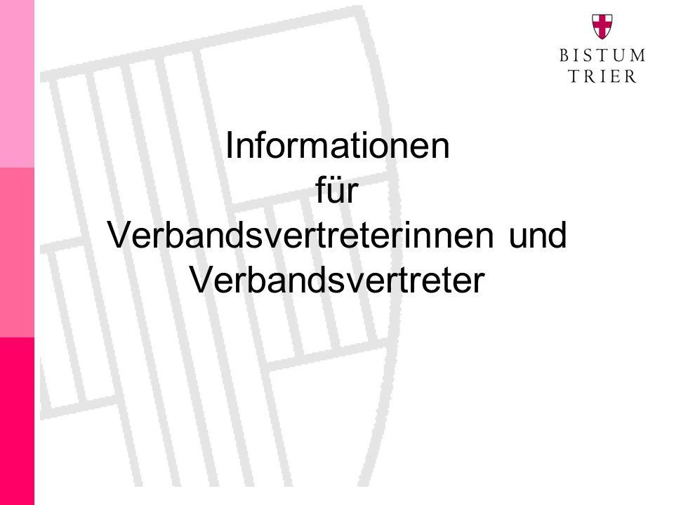 Informationen für Verbandsvertreterinnen und Verbandsvertreter