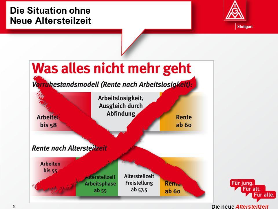Die neue Altersteilzeit Stuttgart 5 Die Situation ohne Neue Altersteilzeit
