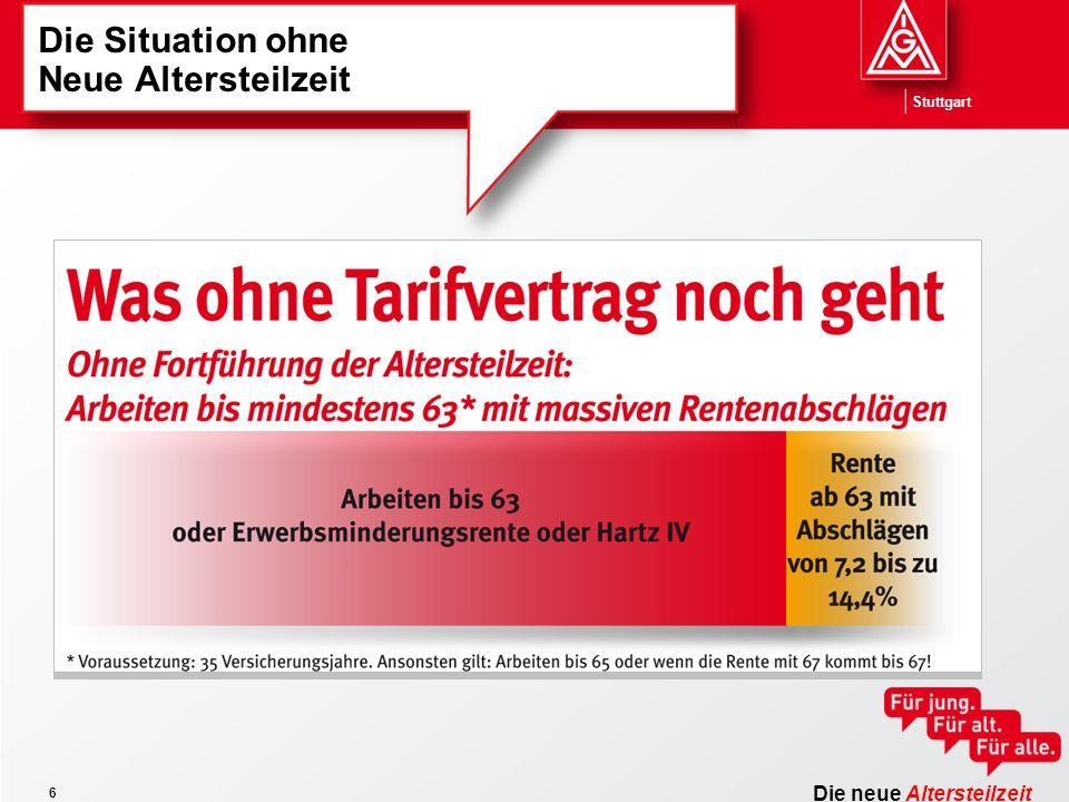 Die neue Altersteilzeit Stuttgart 6 Die Situation ohne Neue Altersteilzeit