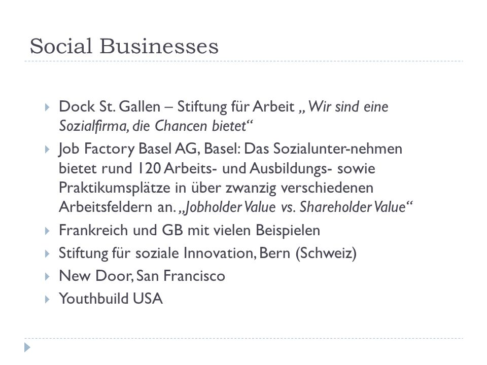 Social Businesses  Dock St.