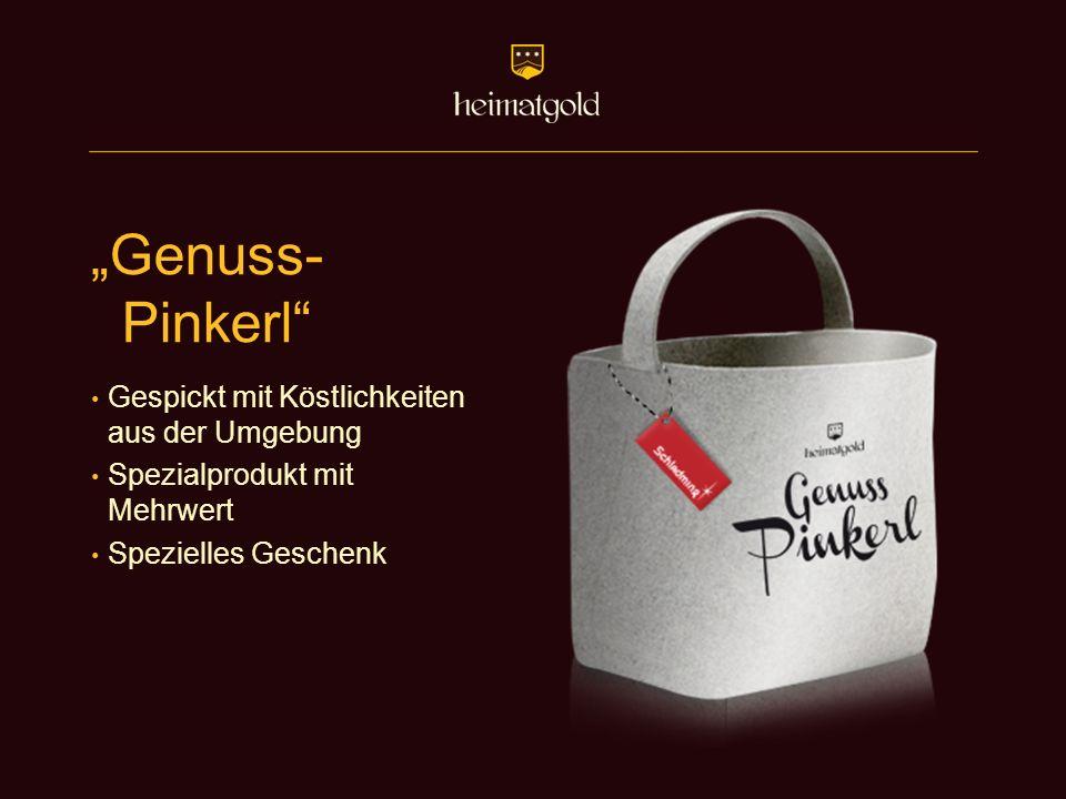"""""""Genuss- Pinkerl"""" Gespickt mit Köstlichkeiten aus der Umgebung Spezialprodukt mit Mehrwert Spezielles Geschenk"""