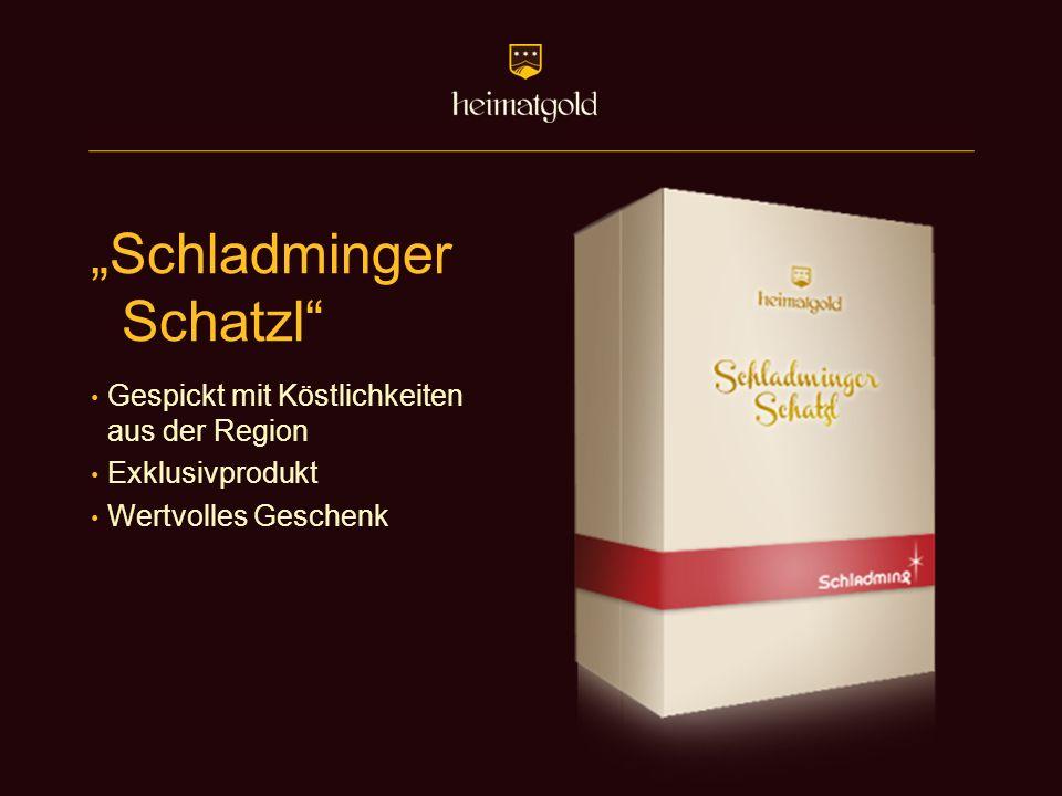 """""""Schladminger Schatzl"""" Gespickt mit Köstlichkeiten aus der Region Exklusivprodukt Wertvolles Geschenk"""