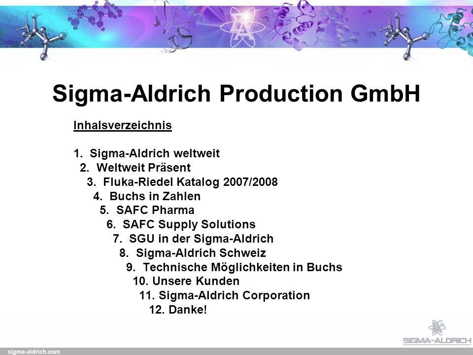 Sigma-Aldrich Production GmbH Inhalsverzeichnis 1.
