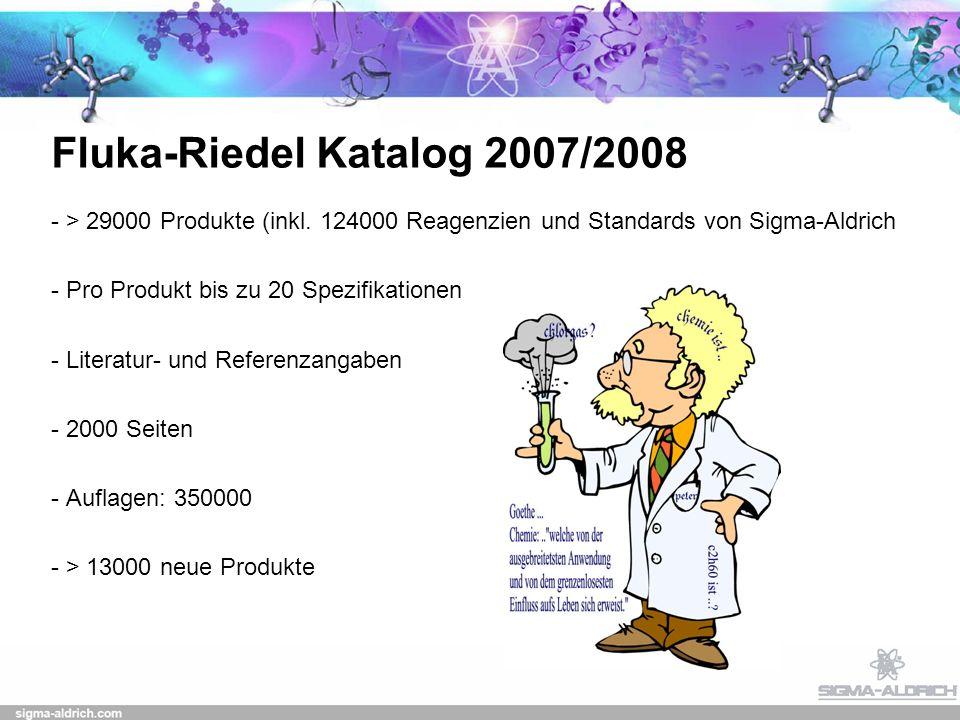 Fluka-Riedel Katalog 2007/2008 - > 29000 Produkte (inkl.