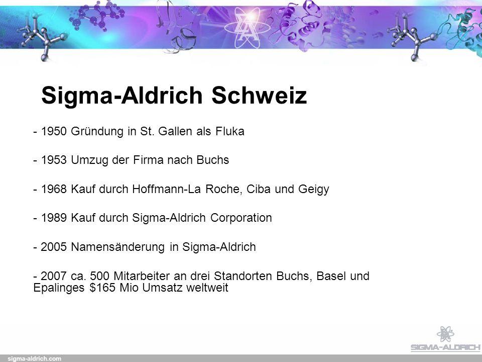 Sigma-Aldrich Schweiz - 1950 Gründung in St.