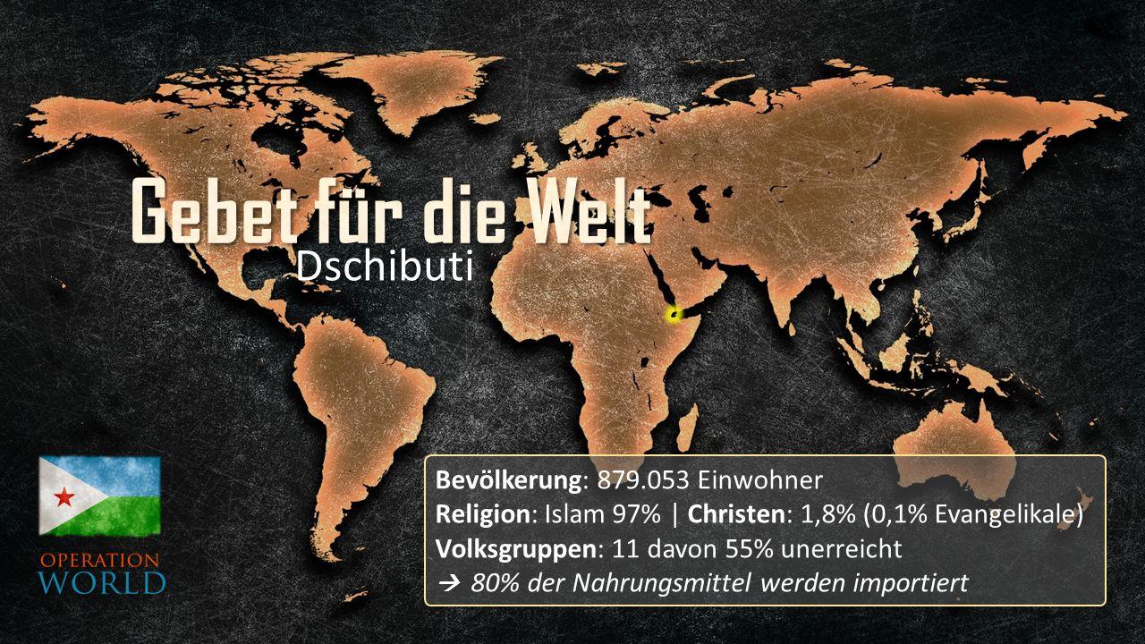 Bevölkerung: 879.053 Einwohner Religion: Islam 97% | Christen: 1,8% (0,1% Evangelikale) Volksgruppen: 11 davon 55% unerreicht  80% der Nahrungsmittel