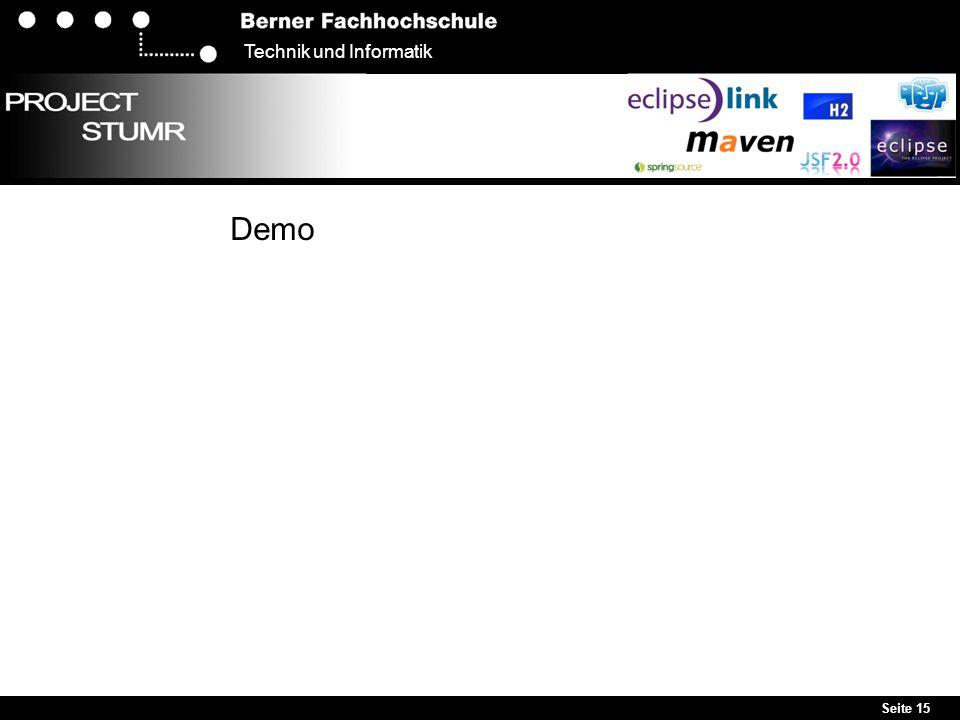 Seite 15 Technik und Informatik Demo