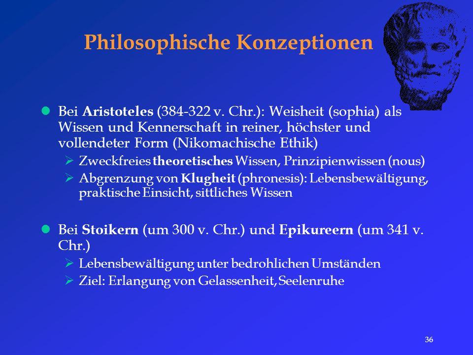 36 Philosophische Konzeptionen Bei Aristoteles (384-322 v.