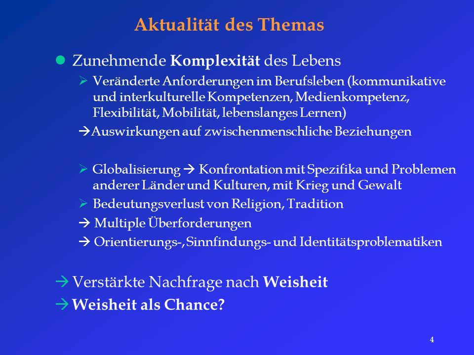 35 Förderung Konzeption eines Förderungsansatzes  Effektivität der Dilemma-Diskussionsmethode nach Kohlberg (Lind, 1990)  Förderung der moralischen Urteilsfähigkeit  Probleme von Menschen beim Umgang mit komplexen Situationen (z.B.