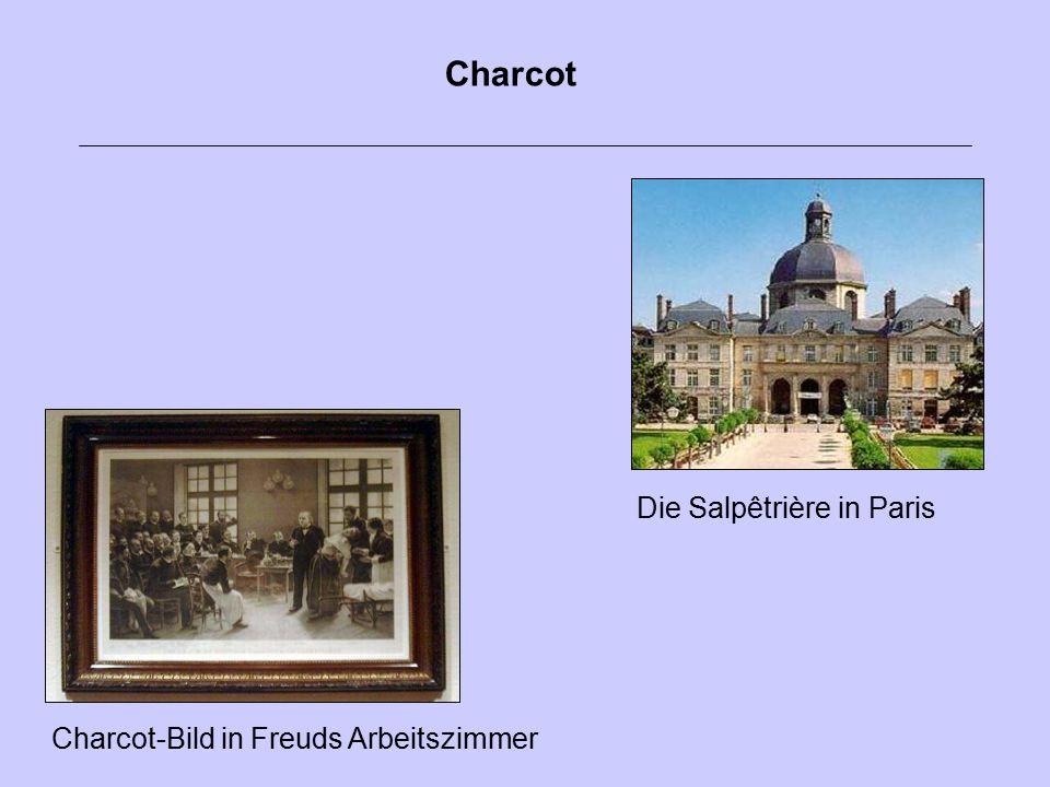 Die Salpêtrière in Paris Charcot-Bild in Freuds Arbeitszimmer Charcot