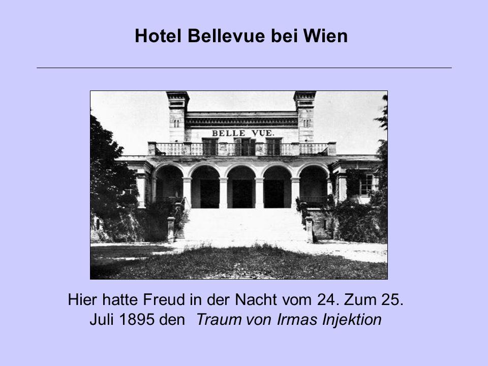 Hier hatte Freud in der Nacht vom 24. Zum 25. Juli 1895 den Traum von Irmas Injektion Hotel Bellevue bei Wien