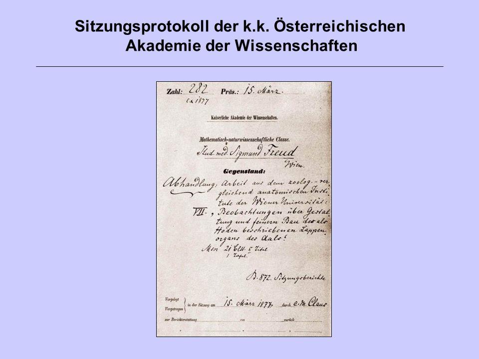 Freud signiert das Charter Book der Royal Society