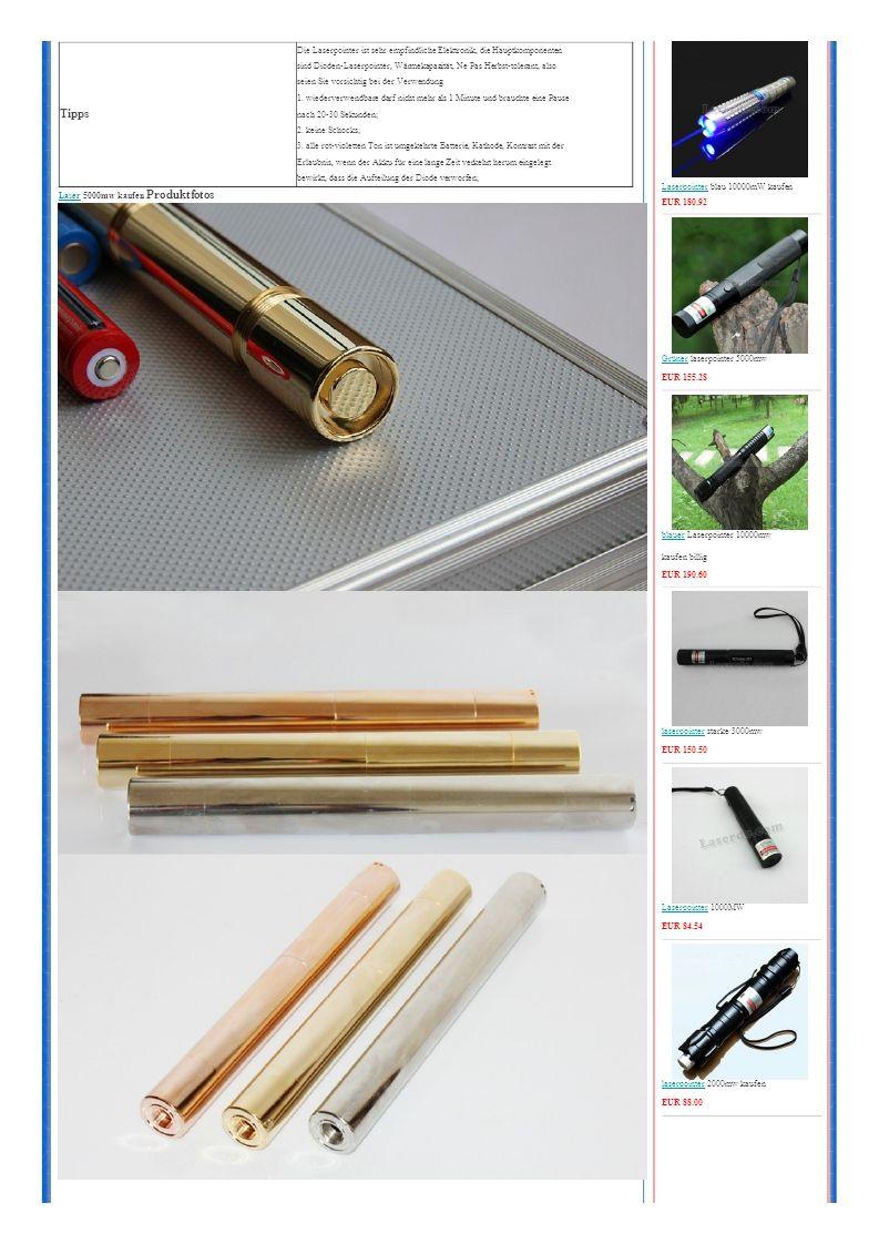 Tipps Die Laserpointer ist sehr empfindliche Elektronik, die Hauptkomponenten sind Dioden-Laserpointer, Wärmekapazität, Ne Pas Herbst-tolerant, also seien Sie vorsichtig bei der Verwendung 1.