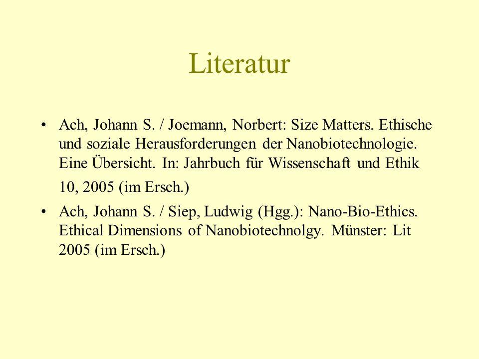 Literatur Ach, Johann S. / Joemann, Norbert: Size Matters.