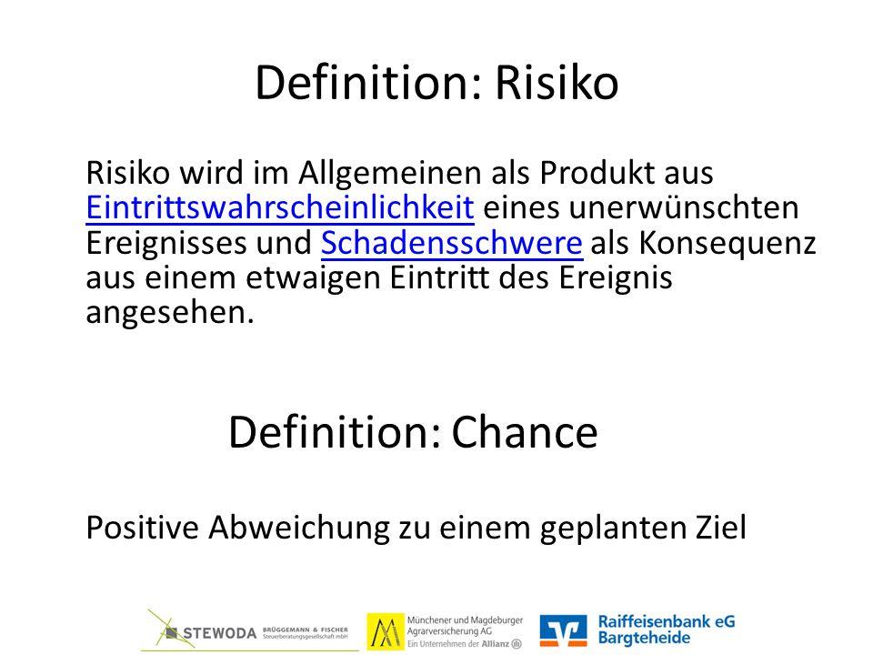 Definition: Risiko Risiko wird im Allgemeinen als Produkt aus Eintrittswahrscheinlichkeit eines unerwünschten Ereignisses und Schadensschwere als Konsequenz aus einem etwaigen Eintritt des Ereignis angesehen.