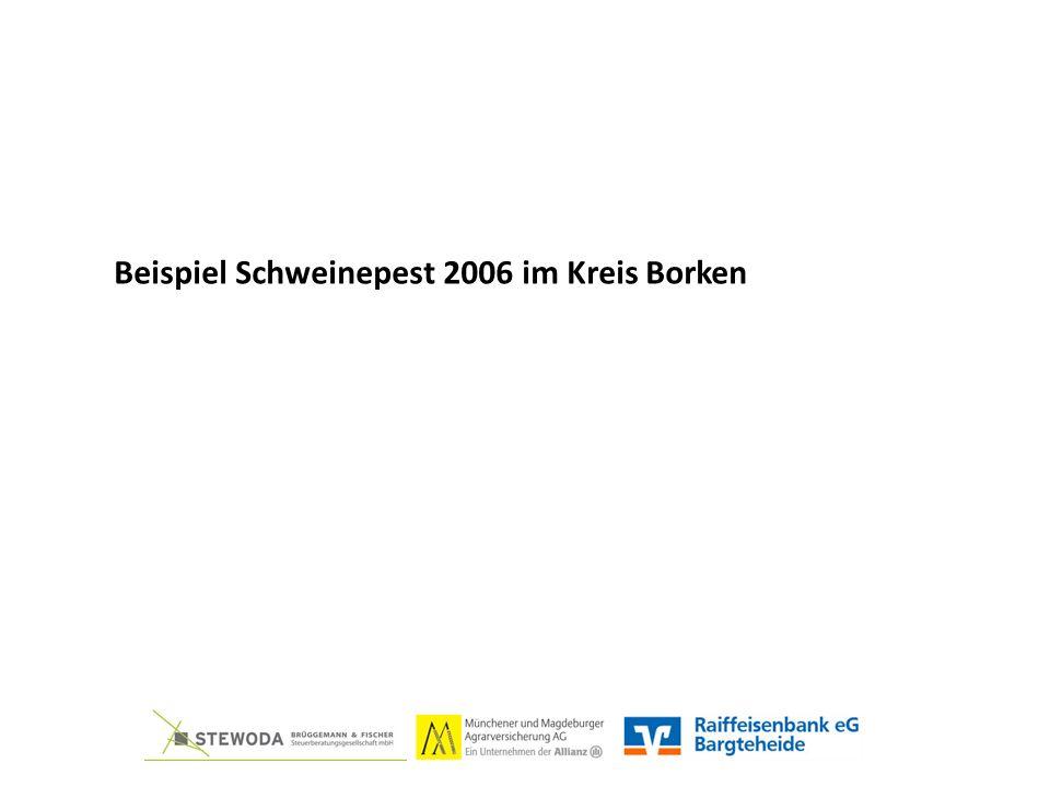Beispiel Schweinepest 2006 im Kreis Borken