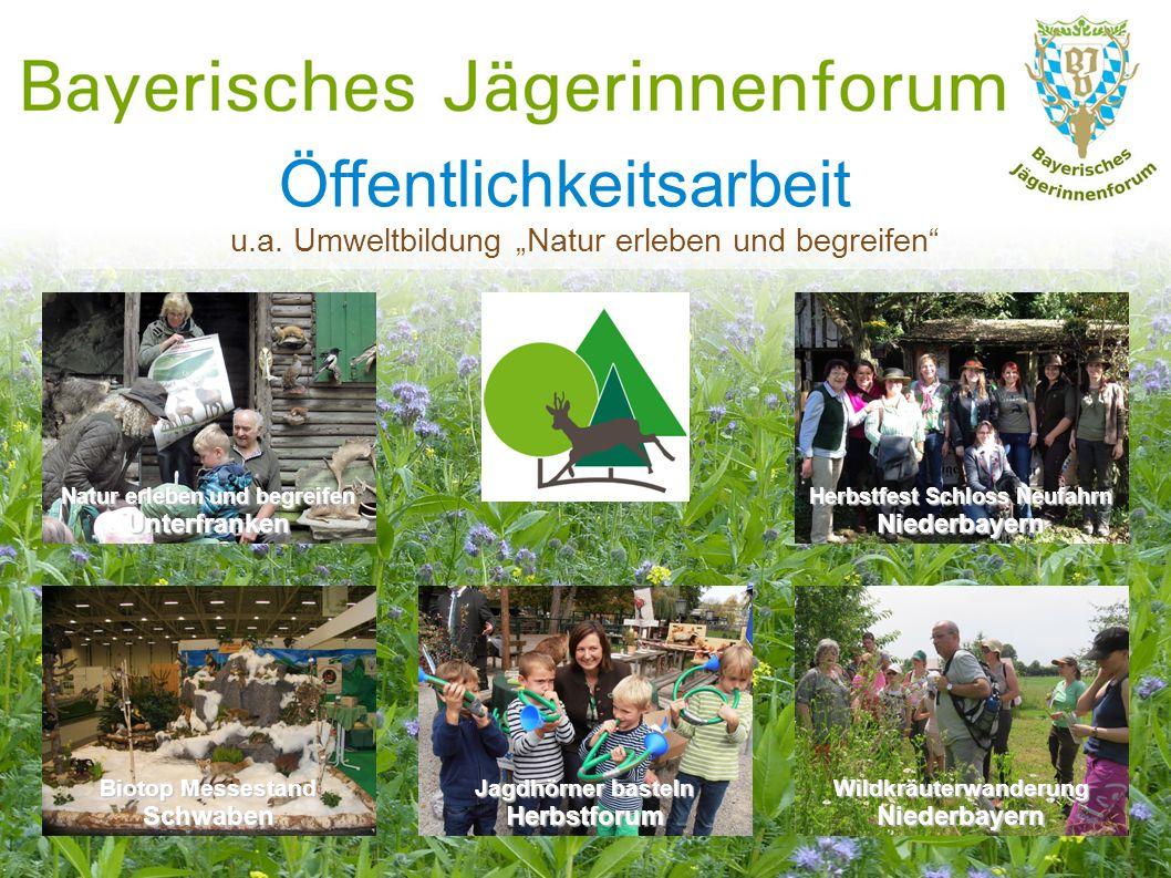 """Öffentlichkeitsarbeit u.a. Umweltbildung """"Natur erleben und begreifen"""" Natur erleben und begreifen Unterfranken Herbstfest Schloss Neufahrn Niederbaye"""