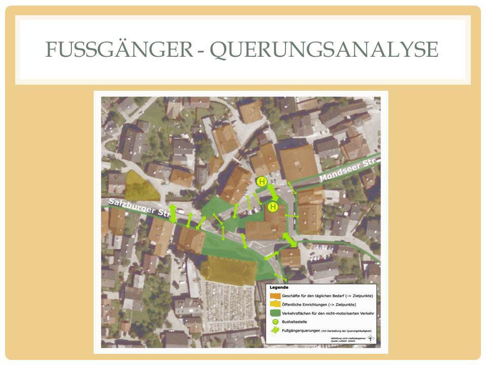 FUSSGÄNGER - QUERUNGSANALYSE