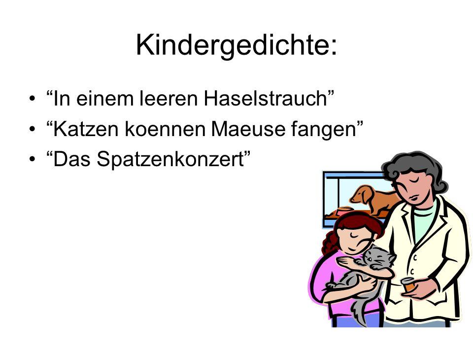 Das Spatzenkonzert war beliebtes Lied der Kindern in Tannenwalde.