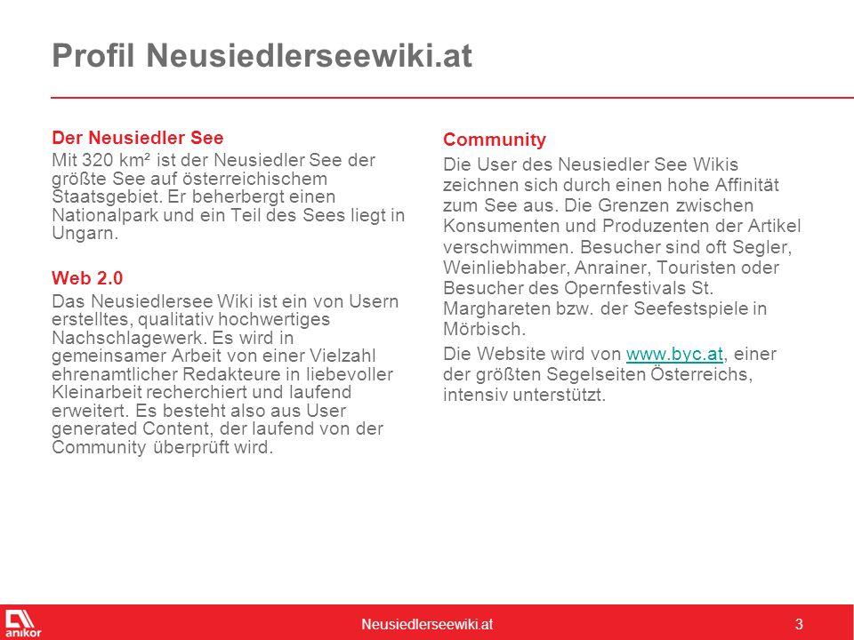 Neusiedlerseewiki.at4 Zahlen & Fakten Unique Clients2.427 Visits7.710 Page Impressions72.128 Ad Impressions82.325 Visits Length9,4 PI Quelle: Webalizer, Monatswerte