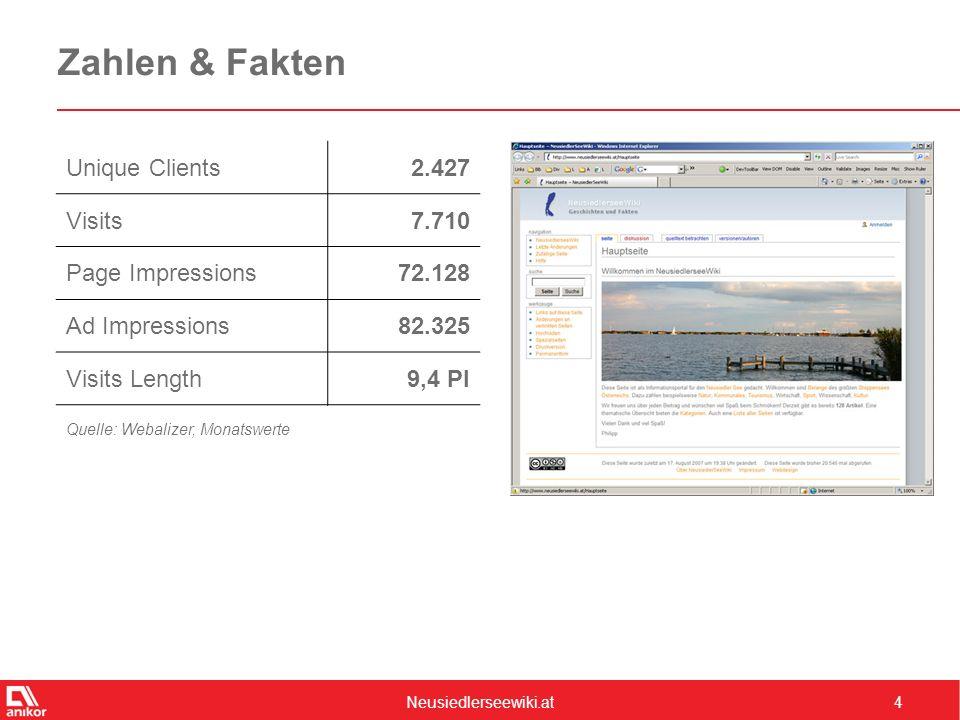 Neusiedlerseewiki.at5 Werbeformate – Full Banner  Erscheint im Seitenkopf jeder Seite  ROS  468 x 60 Pixel