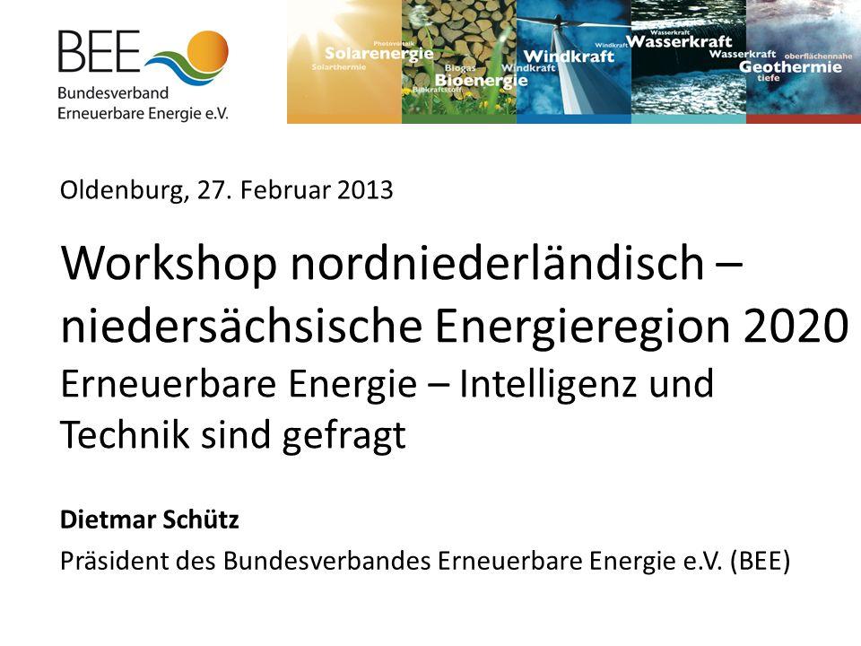 Dietmar Schütz Präsident des Bundesverbandes Erneuerbare Energie e.V.