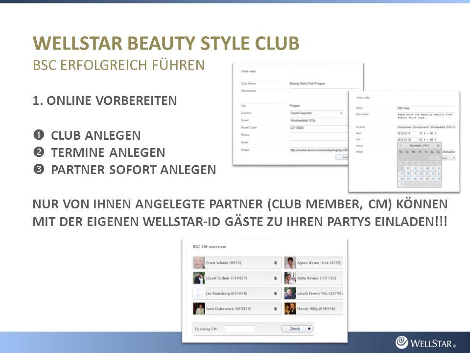 WELLSTAR BEAUTY STYLE CLUB BSC ERFOLGREICH FÜHREN 1.
