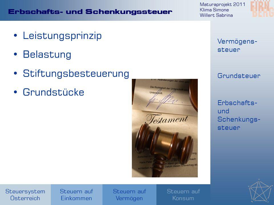 Maturaprojekt 2011 Klima Simone Willert Sabrina Steuersystem Österreich Steuern auf Einkommen Steuern auf Konsum Steuern auf Vermögen Erbschafts- und
