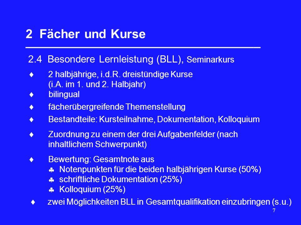 38 7 Wiederholung; Fachhochschulreife __________________________________ 7.1Voraussetzungen für Wiederholung; Nichtzu- erkennung der Allgemeinen Hochschulreife 4 Kurshalbjahre bilden pädagogische Einheit, keine Versetzung, keine Wiederholung einzelner Kurse.