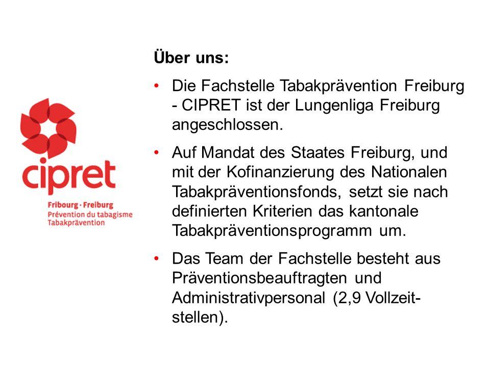 Über uns: Die Fachstelle Tabakprävention Freiburg - CIPRET ist der Lungenliga Freiburg angeschlossen.